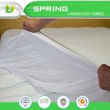 El protector impermeable del colchón de la alergia del algodón anti de Terry ajustó