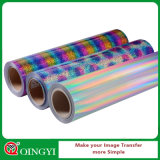 El mejor vinilo del traspaso térmico del holograma de la calidad de Qingyi para la ropa