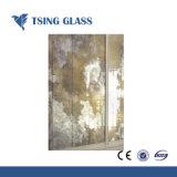 Miroir dépoli /salle de bains miroir décoratif/ Le bord biseauté motif gravé conduit Mirror/ miroir de verre ancien