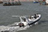 Barca militare del blu marino del crogiolo di nave di soccorso della barca della nervatura di Liya 7.5m