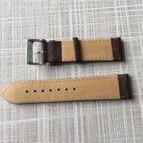 Em pele genuína castanha escura Vintage trança de relógio