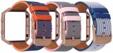 De echte Band van het Horloge van het Leer voor Uitbarsting Fitbit met Metaal nam Gouden Geval 23mm Riem toe