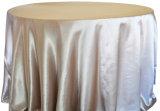 Banquete luxuoso do restaurante do banquete de casamento de Oilproof da tampa de tabela do cetim do poliéster do Tablecloth Home do chapéu de coco de pano de tabela da decoração