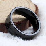 Ringen van de Groef van het Carbide van het Wolfram van de Juwelen van Hotsale de In het groot Zwarte Materiële