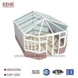Портативный белый алюминиевый парник рамки с крышей дома Tempered стекла