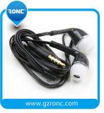 고품질 PVC 케이블 3.5mm 플러그 백색 이어폰