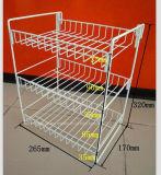 Crémaillère d'étalage de chewinggum de fil en métal pour le compteur de supermarché