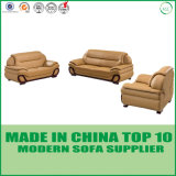 Sofá de madera seccional del cuero moderno de los muebles de oficinas de Divani