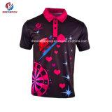 도매 뉴질랜드 건조한 적합 골프 셔츠 관례에 의하여 승화되는 폴로 셔츠