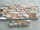 Jaune Quartzite mixte de la Culture de la pierre pour revêtement mural Tile