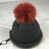 Feitos de algodão moda chapéu de Inverno Senhoras Hat com POM POM