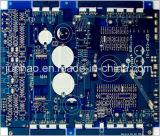 Carte automatique bleue de l'ENIG 2layer avec le panneau de carte du Double-Côté Fr4