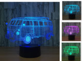 Voiture de sport moto//bus/train 3D'Illusion lampe. 3d éclairage de nuit à LED