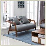 ホーム足の部門別木は湖の青いクッションカバーでソファーを覆う