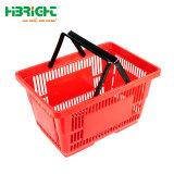Venda por grosso de plástico de reporte de supermercados mercearias cesto de compras