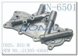 Coperchio laterale di alluminio Td25 del radiatore dell'olio dei Nissan, Grande-M. (OEM: 21305-43G01)