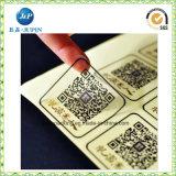 Kundenspezifischer Kennsatz-Druckpapier-bunter selbstklebender Aufkleber für Barcode (jp-s198)