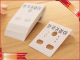 Карточка индикации ювелирных изделий держателя PVC бирки Hang серьги