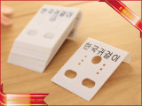 Pendientes de PVC de la etiqueta de colgar joyas titular de la tarjeta gráfica