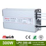 300W Fonte de alimentação Comutação à prova o condutor LED (MWISH LPV-300-48)