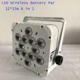 12 X 15W 6 em 1 luz lisa da PARIDADE do diodo emissor de luz do estágio