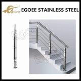 Barrière en verre en acier inoxydable, barrière en verre d'escalier