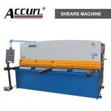 Hidráulico da marca Accurl máquina de corte de metais QC12y-6X4000 E21 para cortar folha Meta de exposição