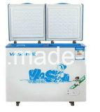 doppio congelatore della cassa della parte inferiore piana di temperatura 359L