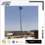 iluminação elevada de aço galvanizada ao ar livre pólo do mastro de 30m