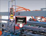 Carpeta automática de alta velocidad Gluer del rectángulo del cartón y máquina de Stitchering