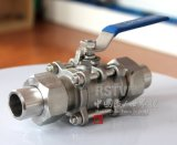 Cast Stainless Steel Union Bw Butt Welding 3PC Ball Valve