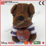 De Zachte Pluche Keychain van het Stuk speelgoed ASTM vulde de Dierlijke Sleutelringen van de Hond voor Jonge geitjes/Kinderen