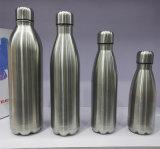 La bosse personnalisée de bouteille de kola d'acier inoxydable met en forme de tasse le flacon de vide de thermos