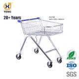 70L Quatro Rodas Carrinho de Compras Carrinho de Supermercado de Metal