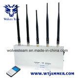 リモート・コントロールの5本のアンテナ携帯電話の妨害機(3G、GSM、CDMA、DCS)