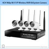 cámara de sistema sin hilos del kit NVR de la seguridad del CCTV del IP de 4CH 960p Wi-Fi