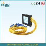 Splitters PLC муфт Splitters/оптического волокна 1X32 в коробке ABS, Ruggedized волокне 2mm Jacketed