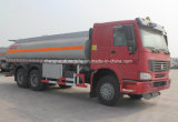 HOWO 10の車輪の石油タンカーのトラック20tの燃料のBowserタンクトラック