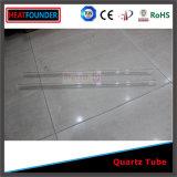 Tubes de verre clairs fermés d'un quartz protégé par fusible d'extrémité