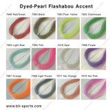 Am besten verkaufend fliegen 12 Farben, materiellen Färben-Perle Flashabou Akzent Comobo binden