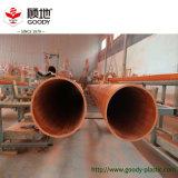 Померанцовая похороненная PVC-C труба предохранения от провода электрического кабеля большого диаметра