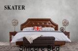 A05 미국식 침실 직물 침대 가죽 침대