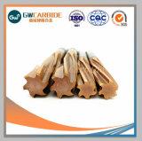 炭化タングステンのリーマー1-6のフルート