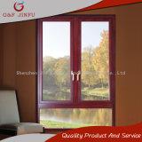 Casement de vidro Windows do dobro de alumínio de madeira do frame da transferência térmica da grão