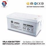 Свинцовокислотная батарея геля батареи 12V 200ah солнечная/Lanyu200A001
