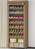 Cabinet portatif de crémaillère de chaussure avec le Module d'organisateur de mémoire de chaussure de housse en toile
