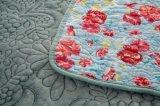 Couverture de broderie avec le tissu de flanelle et remplie du coton ou personnalisée