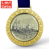 Горячая выполненная на заказ отливка круглая форма воинское старое бронзовое медаль спорта металла