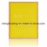 Panneau en gros de lettre de feutre de pouces 10X10 de la Chine avec le stand de bâti de hêtre