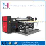 2 mètres d'imprimante de grand format à plat et roulis pour rouler l'imprimante de Digitals à plat UV d'imprimante de DEL